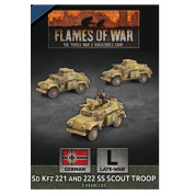 Flames Of War - D-Day: Sd Kfz 221 and 222 SS Scout Troop (x3 Plastic) - EN