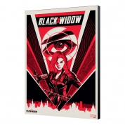 BLACK WIDOW MOVIE - WOODEN PANEL 08 - Moscow 33.7 x 50 cm