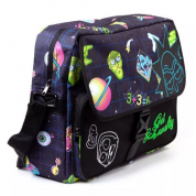 Rick and Morty - Space AOP With Flock Print Messengerbag