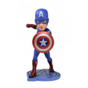 NECA - Avengers The Movie Captain America Head Knocker 7-inch (Slightly damaged box)