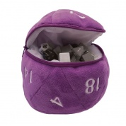 UP - D20 Plush Dice Bag - Purple