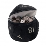 UP - D20 Plush Dice Bag - Black