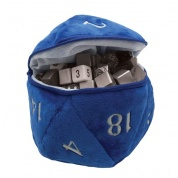 UP - D20 Plush Dice Bag - Blue