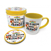 Pyramid Gift Tin - Friends Chibi Life's Better With Friends