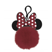 Pom Pom Keychain - Minnie Mouse (Bow & Ears)