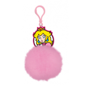 Pom Pom Keychain - Super Mario (Princess Peach)