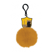 Pom Pom Keychain - Harry Potter (Hufflepuff Shield)