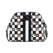 LF LOONEY TUNES BLK/WHT CHECK CHARACTER CROSS BODY BAG