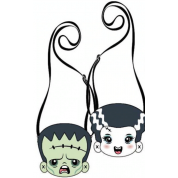 LF Universal Monsters Frankie and Bride 2 sided Crossbody Bag