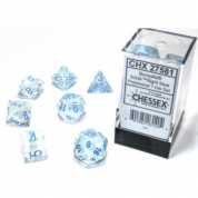 Chessex Borealis 16mm d6 Icicle/light blue Luminary Dice Block (12 dice)