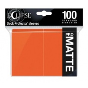 UP - Eclipse Matte Standard Sleeves: Pumpkin Orange (100 Sleeves)