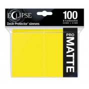 UP - Eclipse Matte Standard Sleeves: Lemon Yellow (100 Sleeves)