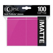 UP - Eclipse Matte Standard Sleeves: Hot Pink (100 Sleeves)