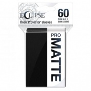 UP - Eclipse Matte Small Sleeves: Jet Black (60 Sleeves)