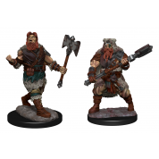D&D Nolzur's Marvelous Miniatures: Human Barbarian Male (6 Units)