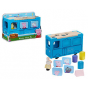 Peppa Pig Wooden School Bus Shap Sorter
