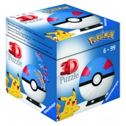 Ravensburger 3D Puzzle-Ball - Pokémon Pokéballs - Superball 54pc - DE/NL/SP/FR/IT/EN
