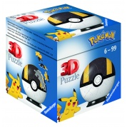 Ravensburger 3D Puzzle-Ball - Pokémon Pokéballs - Hyperball 54pc - DE/NL/SP/FR/IT/EN