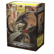 Dragon Shield Brushed Art Sleeves - Valentine Dragon 2021 (100 Sleeves)