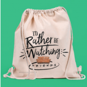 Drawstring Eco Bag - Friends rather be watching
