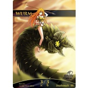 Tokens for MTG - Wurm (ver.1) Token (10 pcs)
