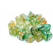 Chessex 7 Die Sets - Nebula TM Spring/white Luminary 7-Die Set