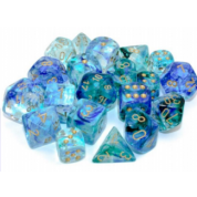 Chessex 7 Die Sets - Nebula TM Oceanic/gold Luminary 7-Die Set