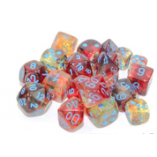 Chessex 7 Die Sets - Nebula TM Primary/blue Luminary 7-Die Set