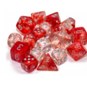 Chessex 12mm d6 Blocks - Nebula TM 12mm d6 Red/silver Luminary Dice Block™ (36 dice)