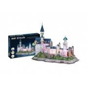 Neuschwanstein Castle - LED Edition 3D Puzzle - 128pc