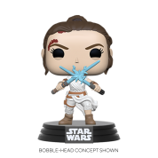 Funko POP! POP Star Wars: SWEp9 - Rey w/2 Light Sabers Vinyl Figure 10cm