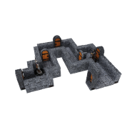WarLock Tiles: Expansion Pack - 1 in. Dungeon Straight Walls