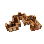 WarLock Tiles: Expansion Pack - 1 in. Town & Village Straight Walls