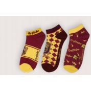 Harry Potter - Set of 3 Socks Ankle - Gryffindor