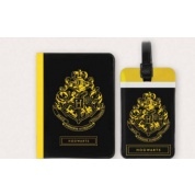 Harry Potter - Tag + Passport cover SET Hogwarts