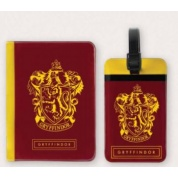 Harry Potter - Tag + Passport cover SET Gryffindor