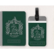 Harry Potter - Tag + Passport cover SET Slytherin