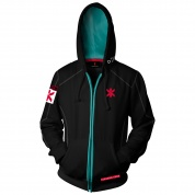 Cyberpunk 2077 Team Trauma Zip-Up Hoodie