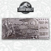 Jurassic World .999 Silver Plated Mosasaurus Ticket