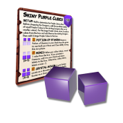 Dungeon Drop - Shiny Purple Cubes