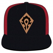 World of Warcraft Horde Leather Emblem Snap Back Hat