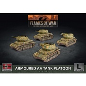 Flames Of War Armoured AA Tank Platoon (x4 Plastic) - EN