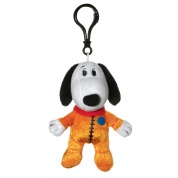Snoopy in Space Snoopy Orange Astronaut Suit Clipsters Plush
