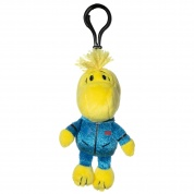 Snoopy in Space Woodstock Blue Astronaut Suit Clipster Plush