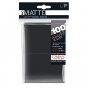 UP - Standard Deck Protector - PRO-Matte Black (100 Sleeves)