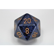 Chessex Speckled 34mm 20-Sided Dice - Golden Cobalt