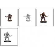 D&D Nolzur's Marvelous Miniatures: Bugbear Barbarian Male & Bugbear Rogue Female (2 Units) - EN
