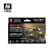 Vallejo WWII American Armour & Infantry Paint Set