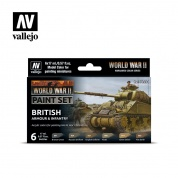 Vallejo WWII British Armour & Infantry Paint Set