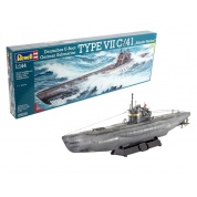 German Submarine TYPE VII C/41 Atlantic Version (1:144) - EN/DE/FR/NL/ES/IT